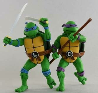 NECA TMNT '87 Leonardo & Donatello 2-Pack (Teenage Mutant Ninja Turtles)