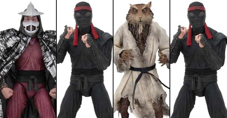 Neca Tmnt Movie 7 Splinter Shredder Foot Soldier Action Figure 4 Pack