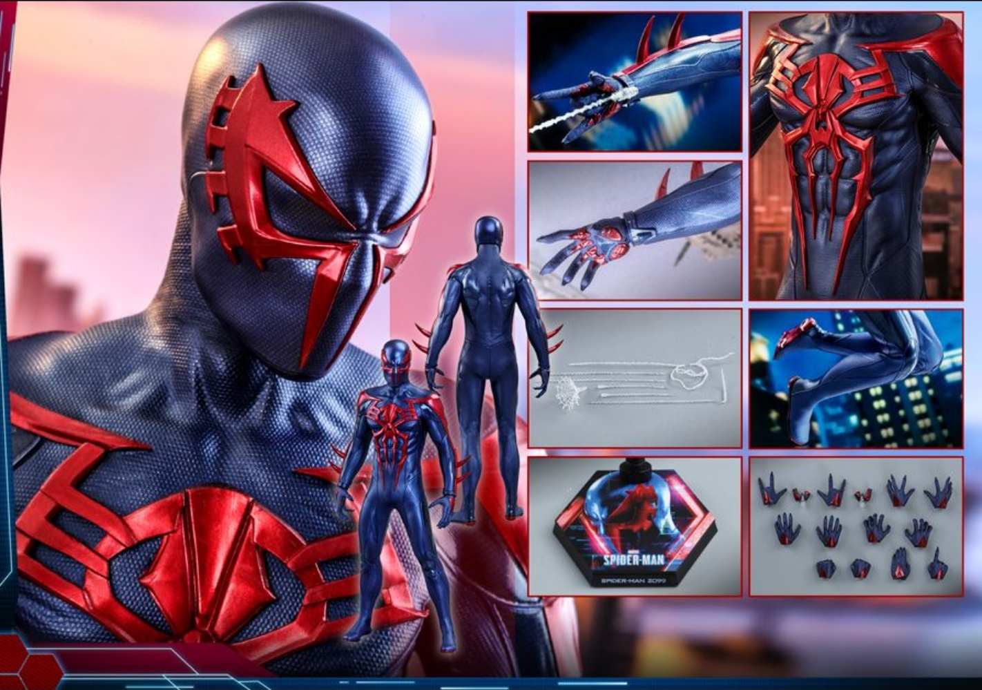 Hot Toys VGM42 Spider-Man 2099 Suit 1/6 Scale Figure