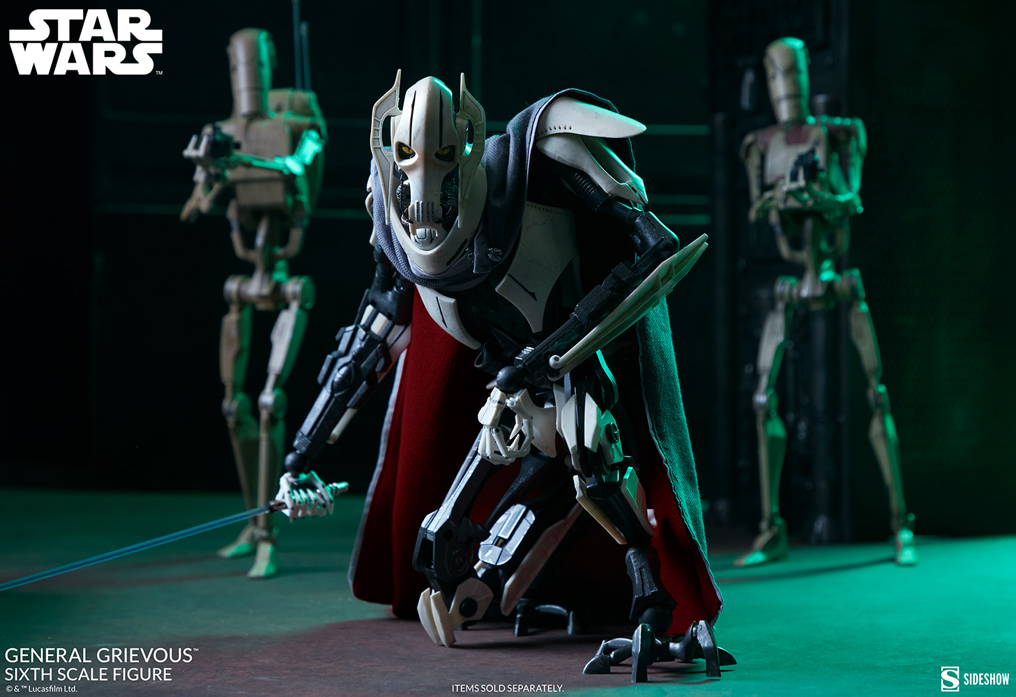 Sideshow Collectibles Star Wars Revenge of the Sith General Grievous 1/6 Scale Figure