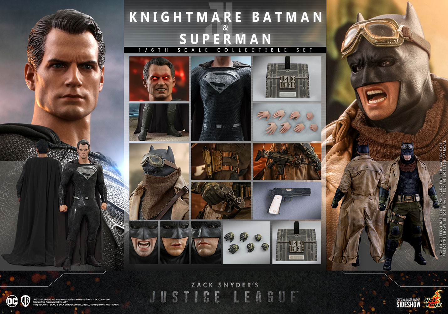 Hot Toys TMS038 Zack Snyder's Justice League Knightmare Batman & Superman 1/6 Scale Set
