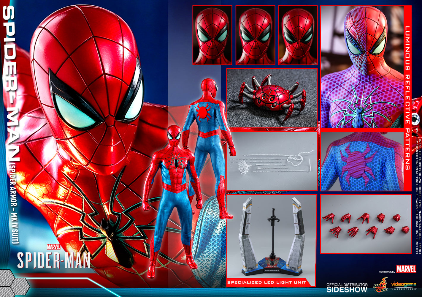 Hot Toys VGM43 Marvel Spider-Man (Spider Armour Mk. IV)